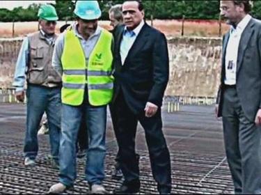 draquila - berlusconi chantier ouvrier