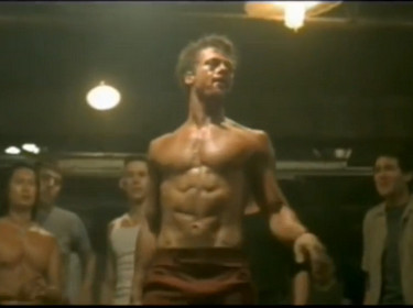 fight club - brad pitt torse nu