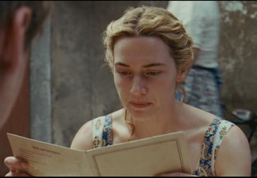 the reader - kate winslet lire lecture