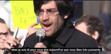 Aaron Schwartz - manifestation SOPA