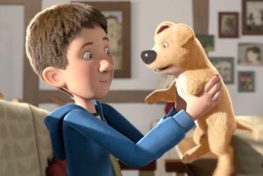 the present - chien amputé