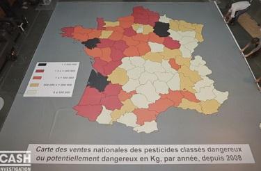 carte de France pesticides